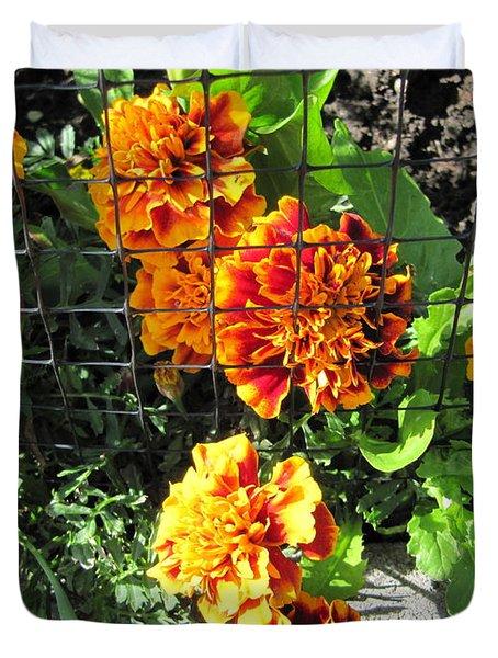 Marigolds In Prison Duvet Cover