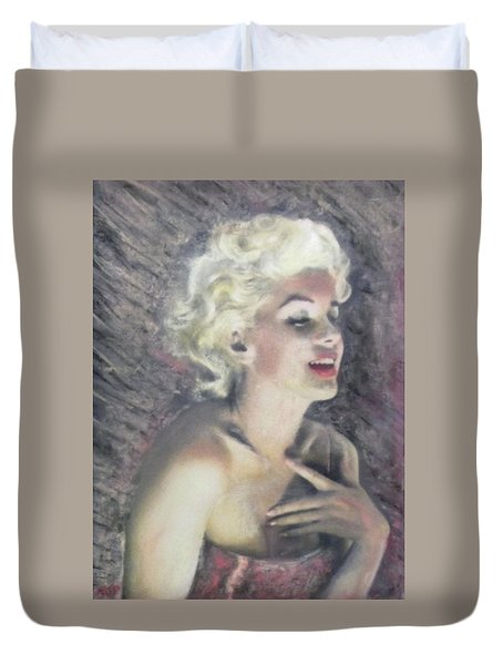 Marilyn And The Joy Of Chanel Duvet Cover by Richard James Digance