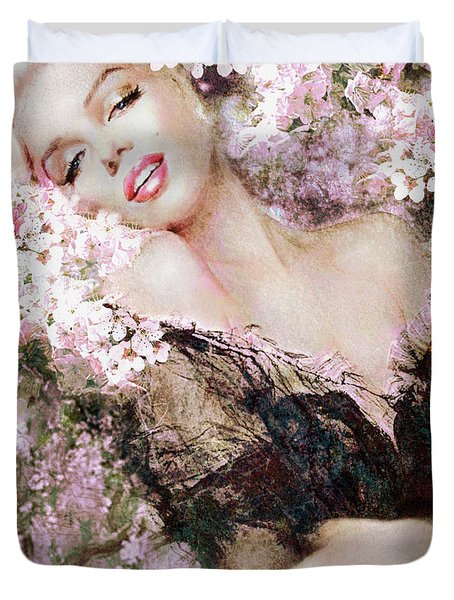 Marilyn Cherry Blossom B Duvet Cover
