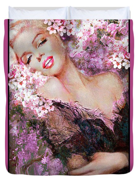 Marilyn Cherry Blossoms Pink Duvet Cover