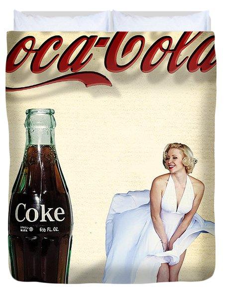 Marilyn Coca Cola Girl 3 Duvet Cover