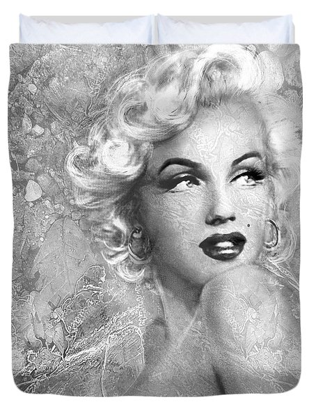 Marilyn Danella Ice Bw Duvet Cover