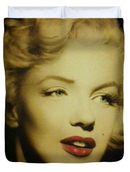 Duvet Cover featuring the photograph Marilyn by Elizabeth Coats