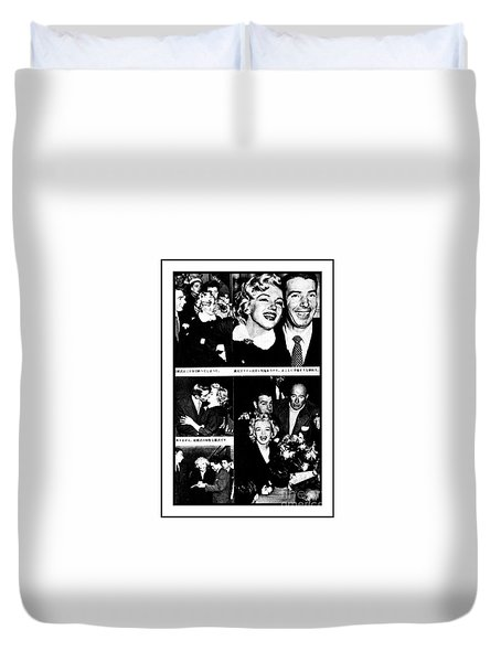 Marilyn Monroe And Joe Dimaggio 1950s Photos By Unknown Japanese Photographer Duvet Cover