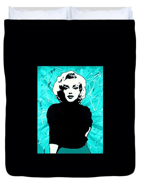 Marilyn Monroe Blue Green Aqua Tint Duvet Cover
