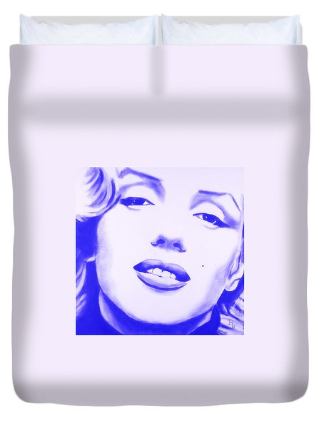 Marilyn Monroe - Blue Tint Duvet Cover