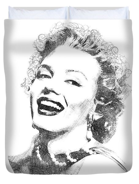 Marilyn Monroe Bw Portrait Duvet Cover