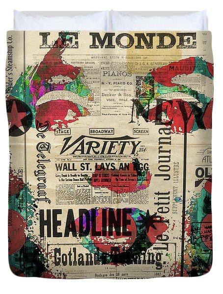 Marilyn Monroe Headliner Superstar Pop Painting Abstract Robert R Duvet Cover