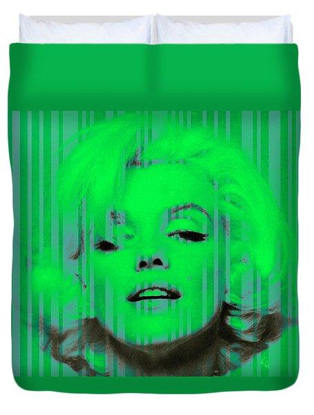 Marilyn Monroe In Green Duvet Cover