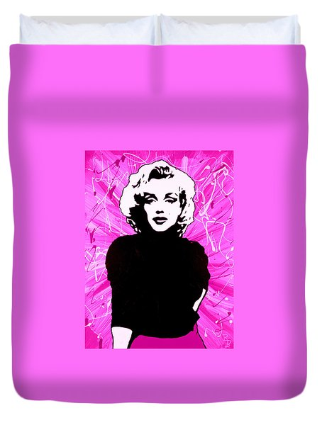 Marilyn Monroe In Hot Pink Duvet Cover