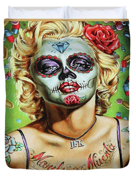 Marilyn Monroe Jfk Day Of The Dead  Duvet Cover