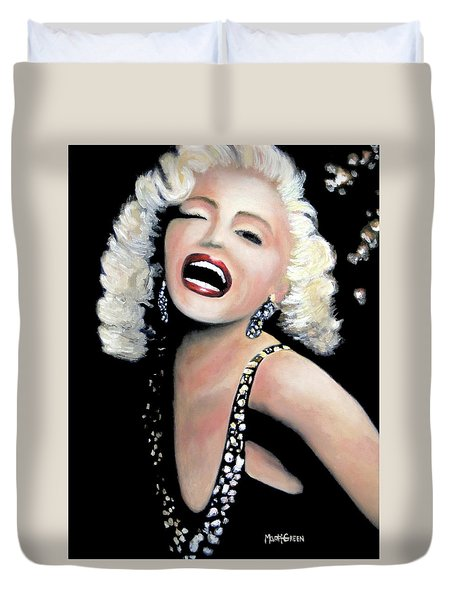 Duvet Cover featuring the painting Marilyn Monroe by Marti Green