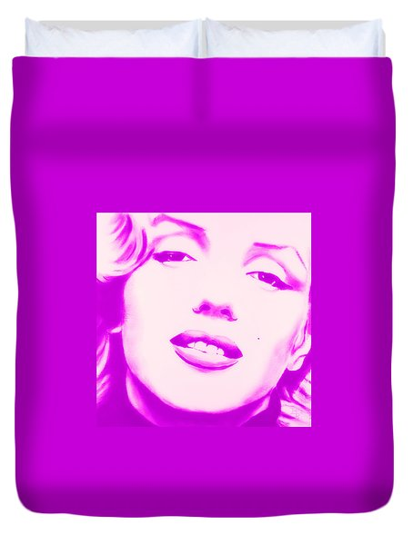 Marilyn Monroe, Purple And Pink Duvet Cover
