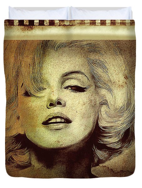 Duvet Cover featuring the photograph Marilyn Monroe Star by Ericamaxine Price