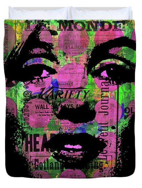 Marilyn Polk Dot Bubble Wrap Pop Art Painting Abstract Robert R Duvet Cover