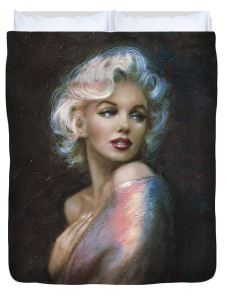 Marilyn Romantic Ww 4 Blue Duvet Cover