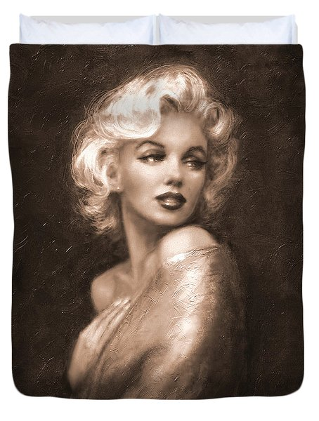 Marilyn Ww Sepia Duvet Cover