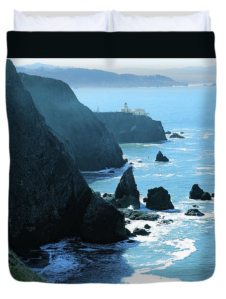 Marin Coastline Duvet Cover by Utah Images