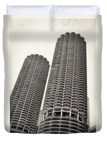 Marina City - Chicago Duvet Cover