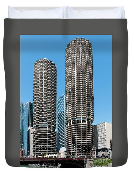 Marina City Duvet Cover