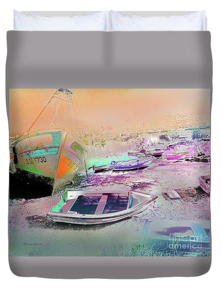 Marina De Huelva Duvet Cover
