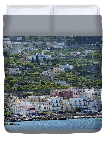 Marina Grande, Isle Of Capri Duvet Cover
