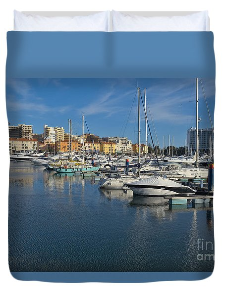 Marina Of Vilamoura At Afternoon Duvet Cover