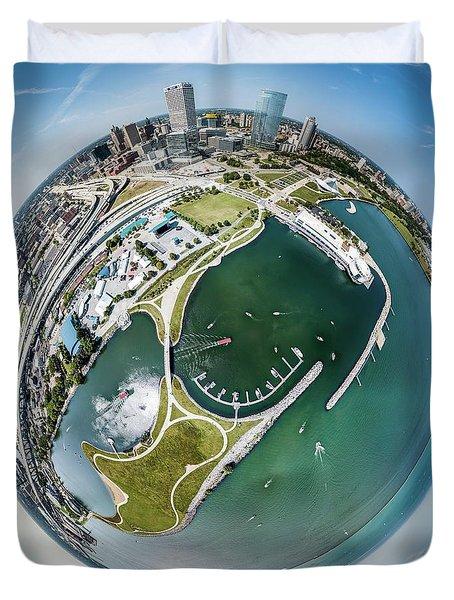 Duvet Cover featuring the photograph Marina by Randy Scherkenbach