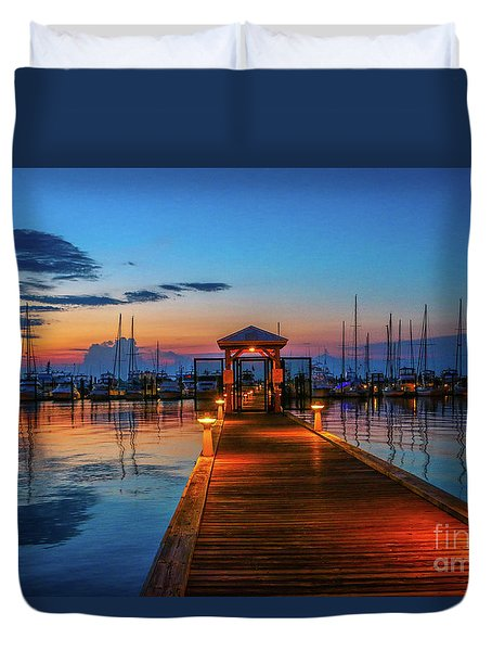 Marina Sunrise Duvet Cover