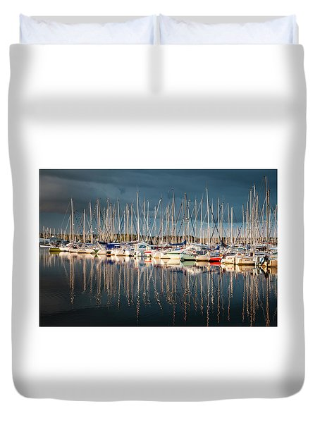 Marina Sunset 4 Duvet Cover