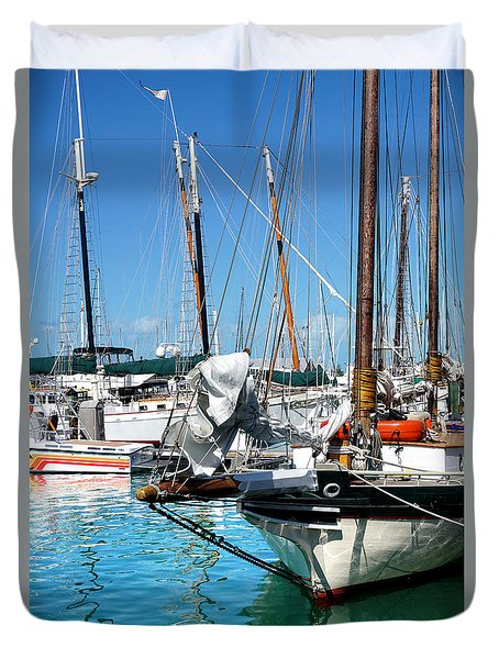 Marinas And Masts  Duvet Cover