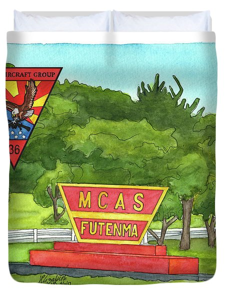 Marine Aircraft Group At Mcas Futenma Duvet Cover