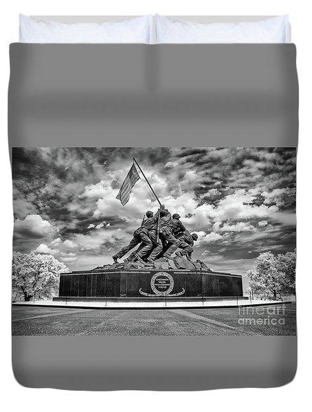 Marine Corps War Memorial Duvet Cover