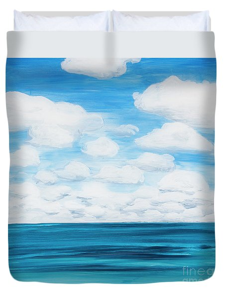 Marine Layer Breaking Up Duvet Cover