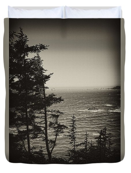 Duvet Cover featuring the photograph Marine Pine by Hugh Smith
