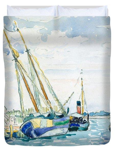Marine Scene, Boats Near Venice, 1903  Duvet Cover