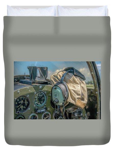 Marine Warbird Duvet Cover