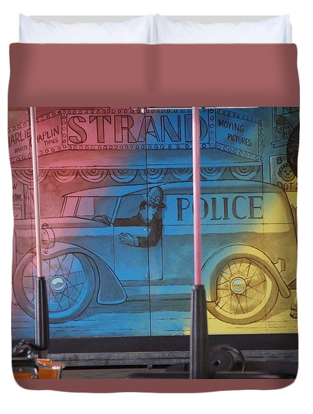 Duvet Cover featuring the photograph Mariner's Landing by Greg Graham