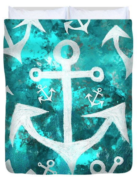 Maritime Anchor Art Duvet Cover