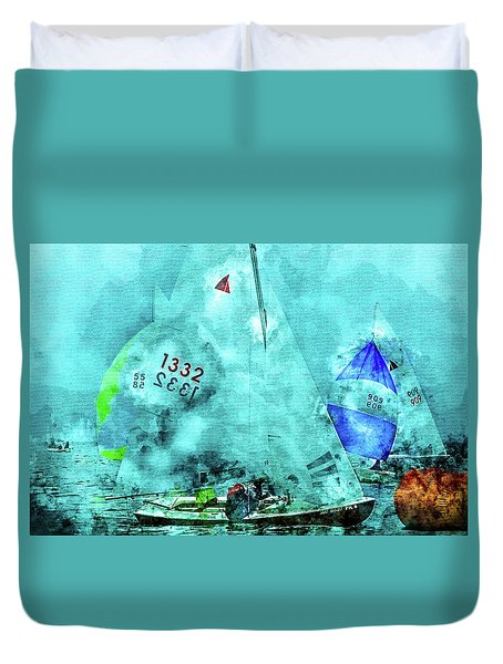 Maritime Number One Duvet Cover