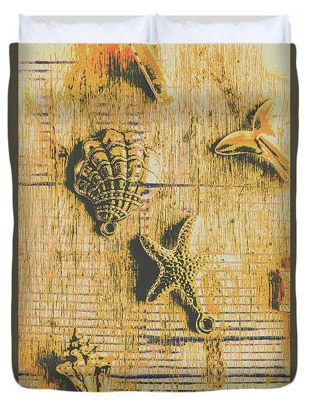Maritime Sea Scroll Duvet Cover
