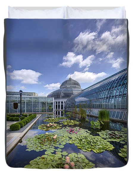 Marjorie Mcneely Conservatory At Como Park And Zoo Duvet Cover