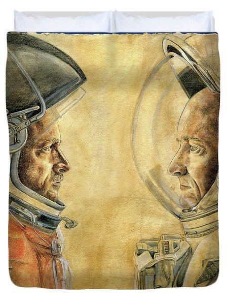 Mark And Scott Kelly Duvet Cover
