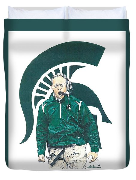Mark Dantonio Duvet Cover