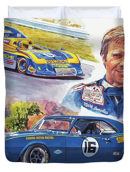 Mark Donohue Racing Duvet Cover