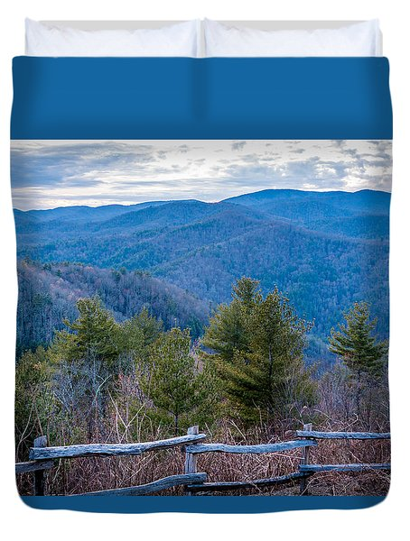 Mark Hannah Overlook Cataloochee Duvet Cover