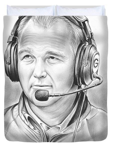 Mark Richt  Duvet Cover by Greg Joens