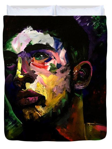 Mark Webster Artist - Dave C. 0410 Duvet Cover by Mark Webster Artist