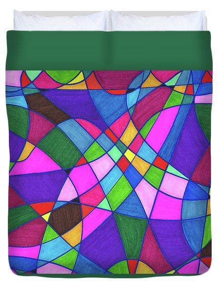 Marker Mosaic Duvet Cover