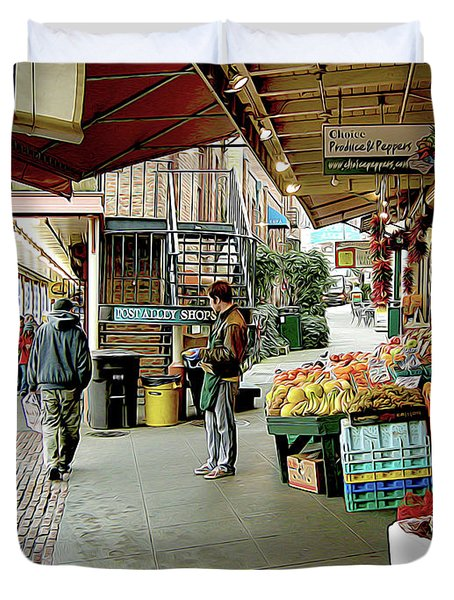 Market Alley Wares Duvet Cover
